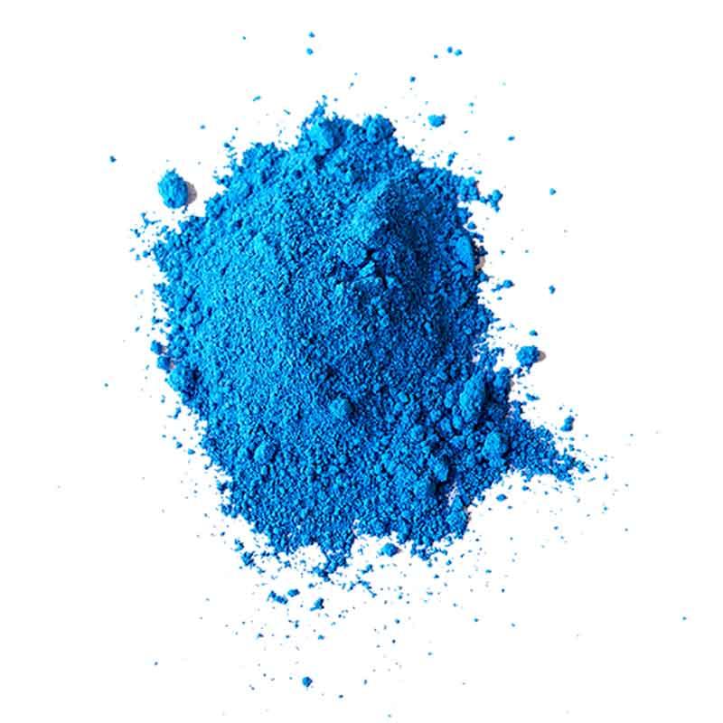 Trockenfarben blau