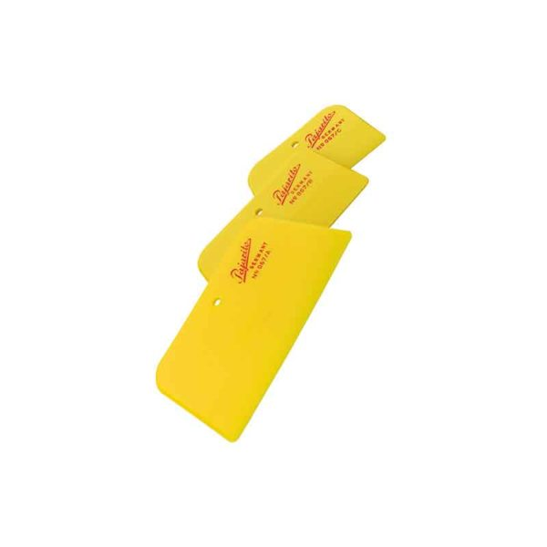 Plastic spatula yellow set 3 pieces