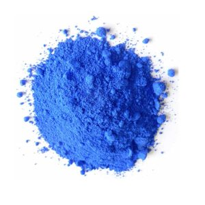 Dry paint ultramarine blue