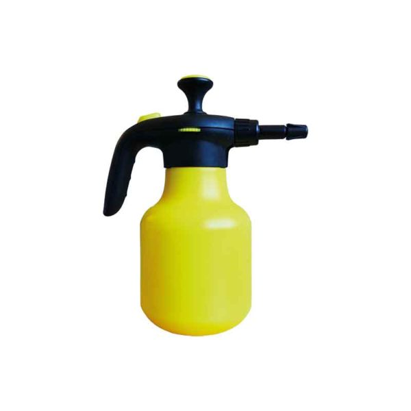 Yellow plastic spray bottle